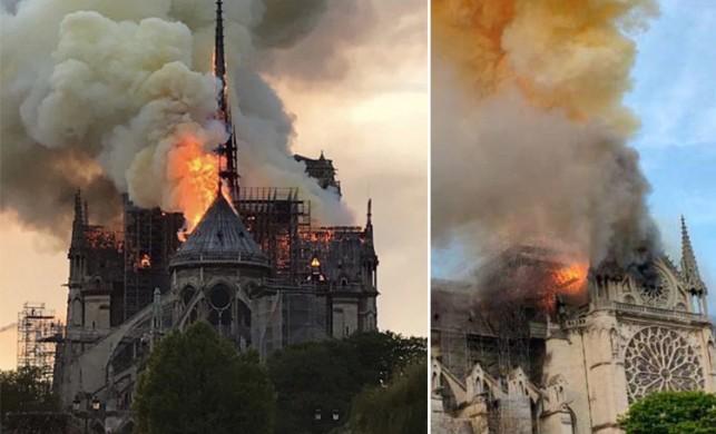 Dünyaca ünlü Notre Dame Katedrali yangınla kül oldu!