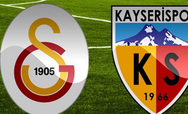 Galatasaray'ın Kayserispor maçı ilk 11'i belli oldu!