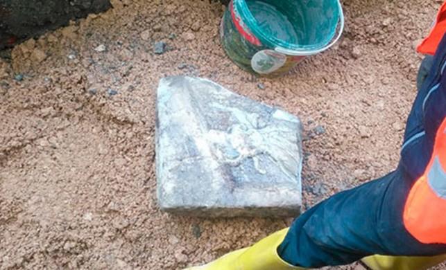 Susurluk'ta kanalizasyon çalışmalarından 'lahit' çıktı