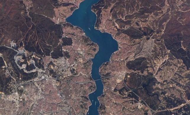 İstanbul uzaydan böyle görüntülendi!
