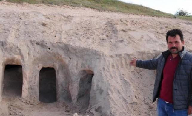 Kapadokya'da yeraltı şehri bulundu