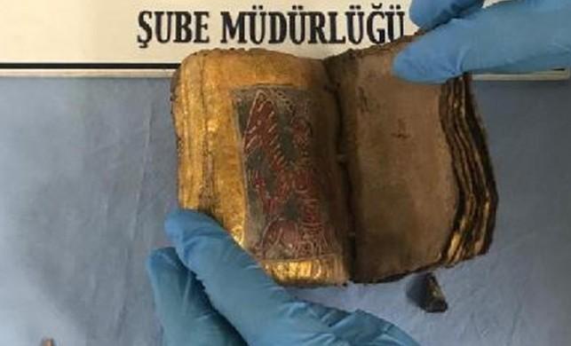 İzmir'de İbranice tarihi kitap ele geçirildi