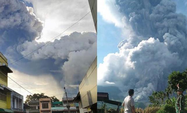 Yanardağ patladı! 7 bin metreye kadar yükseldi