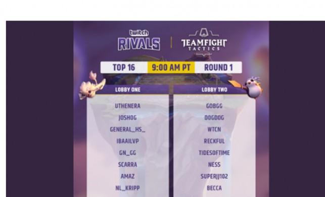 Twitch Rivals Taktik Savaşları, İlk Gün