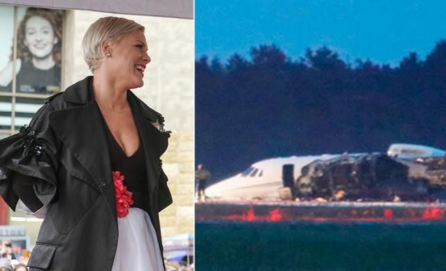 Ünlü şarkıcı Pink'in özel jeti yandı!