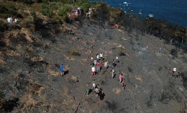 Burgazada'da yangın paniği!