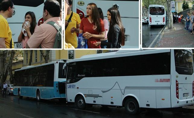 Beşiktaş'ta korkutan kaza