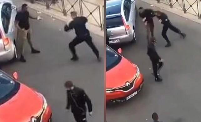 Sosyal medya bu polisi konuşuyor… Gözaltına alacağı adamla boks yaptı