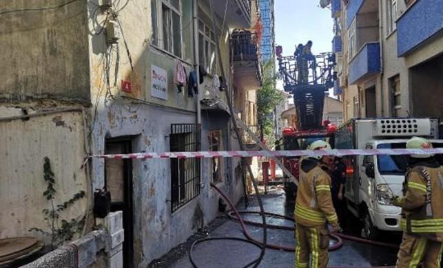 Kadıköy Fikirtepe'de yangın!