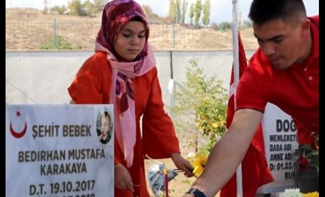PKK'nın şehit ettiği Bedirhan bebek 2. yaş gününde anıldı