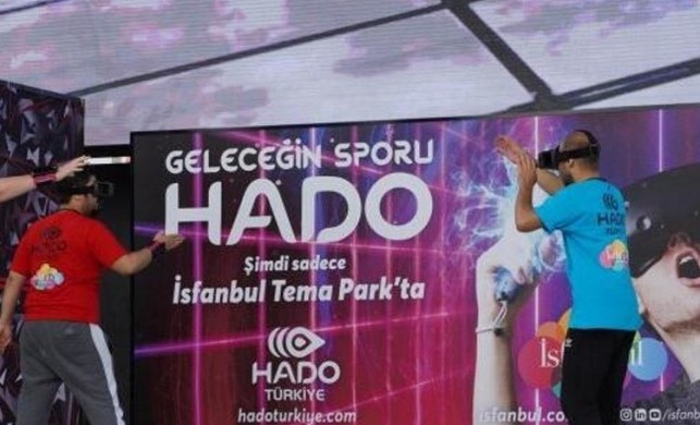 Artırılmış gerçeklik sporu HADO İsfanbul Tema Park'ta meraklılarıyla buluşuyor