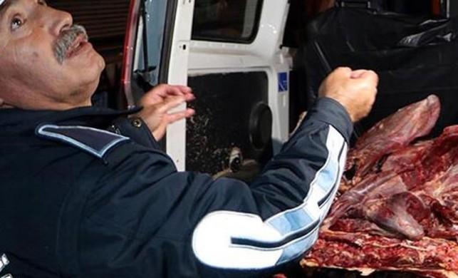 Zabıta düğmeye bastı! 400 kilo kaçak et ele geçirildi