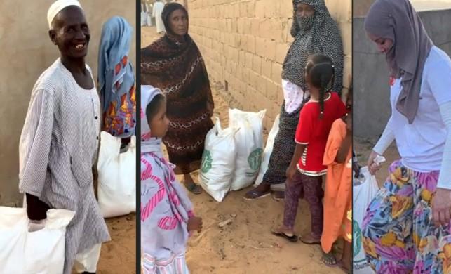 Gamze Özçelik Sudan'daki ihtiyaç sahibi insanlarla bir araya geldi