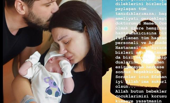 Tolgahan Sayışman ve Almeda Abazi'nin bebeği Efehan'ın sağlık durumu nasıl?