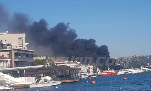 İstanbul Boğazı'nda Bebek'te korkutan görüntü! Yangın neden çıktı?