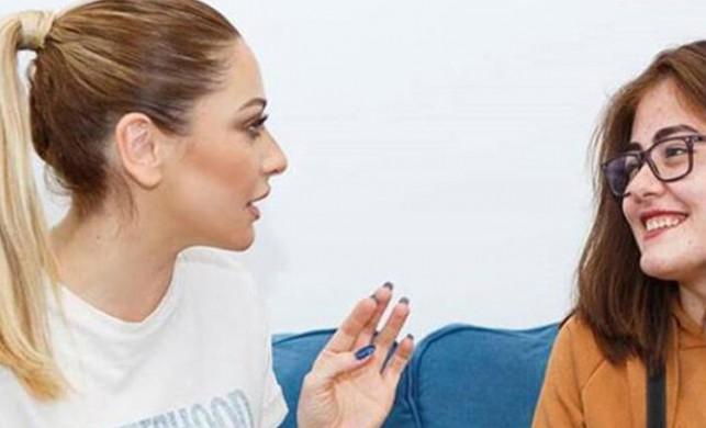 Hadise, kendisi ile tanışmak isteyen epilepsi hastası hayranı Edanur ile görüştü