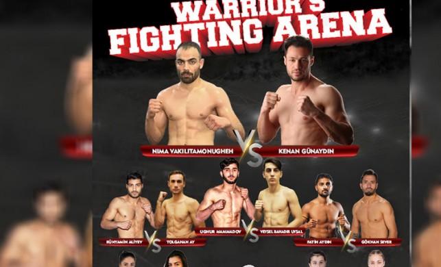 """""""Warrior's Fighting Arena"""" 9 Kasım Cumartesi 21.00'de canlı yayınla TV8, 5'ta!"""