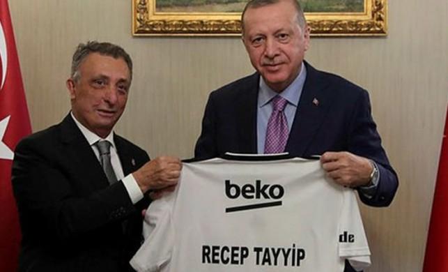 Cumhurbaşkanı Erdoğan, Beşiktaş Başkanı Ahmet Nur Çebi ve yönetimini kabul etti!