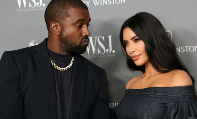 Kanye West'ten Kim Kardashian'a dekolte uyarısı!