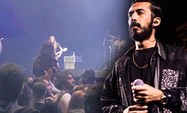 Rapçi Gazapizm, sahnede şarkı söylerken kendisine hareket çeken seyircinin üzerine atladı