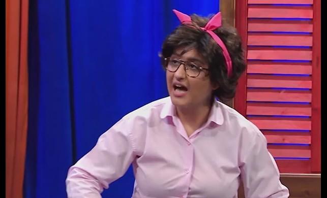 Güldür Güldür oyuncusu Ecem Erkek'ten mini elbiseli poz