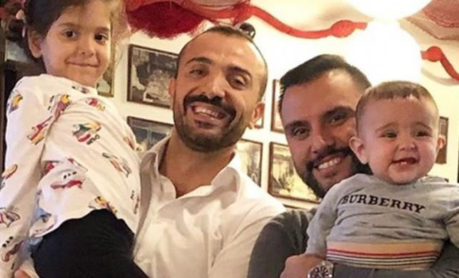 Demet Akalın'ın hayat arkadaşı Okan Kurt ve Alişan'dan çocuklarıyla mutluluk pozu