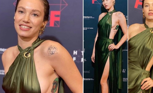 Oyuncu Melisa Şenolsun 2. Hollywood Türk Filmleri Festivali'ne kıyafetiyle damga vurdu