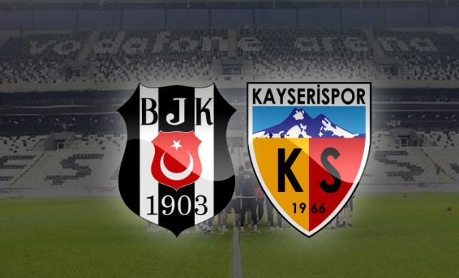 Beşiktaş 4-1 Kayseri maç sonucu   Beşiktaş Kayserispor maç özeti izle