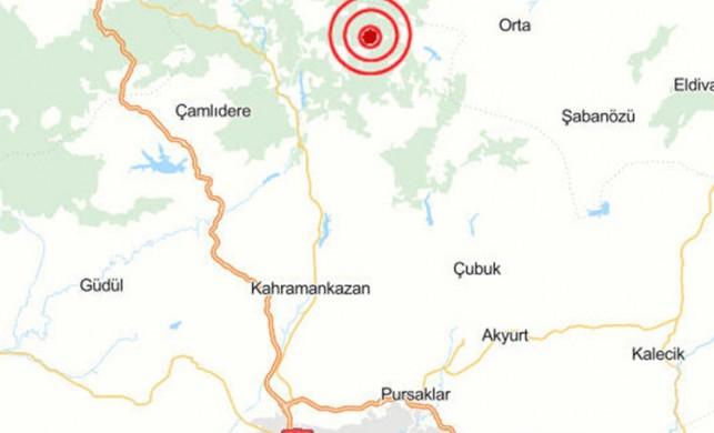 Ankara'da 3.2 büyüklüğünde deprem