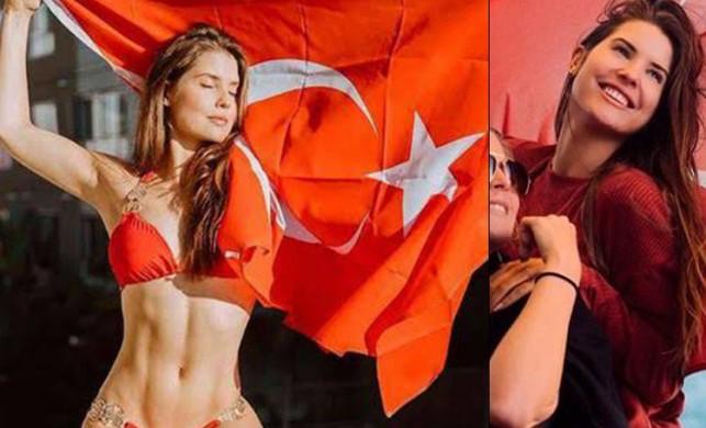 Amanda Cerny 600 bin beğeni alan mesajını Türkiye fotoğrafı ile verdi