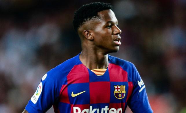 Barcelona'nın genç yıldızı Ansu Fati, Şampiyonlar Ligi tarihine geçti!
