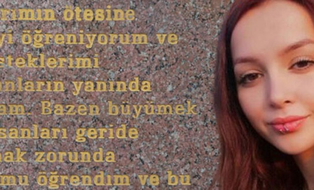 Ceren Özdemir'in sosyal medyadaki paylaşımı ailesi tarafından mezar taşına yazdırıldı