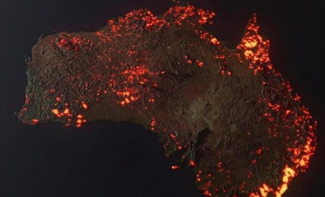 NASA Avustralya'daki yangını böyle görüntüledi! Bır kıta kül oldu...