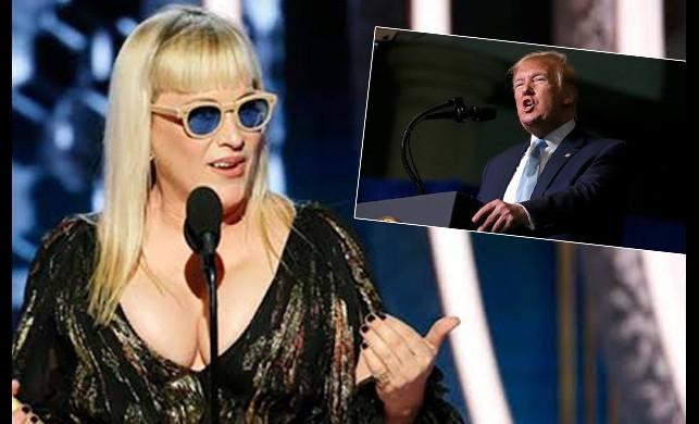 Patricia Arquette'nin Altın Küre Ödülleri'ndeki 'Trump' sözleri sosyal medyaya damga vurdu