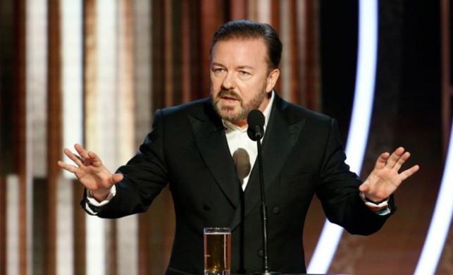 Ricky Gervais'in Altın Küre'deki açılış konuşmasında adeta bombaladı!