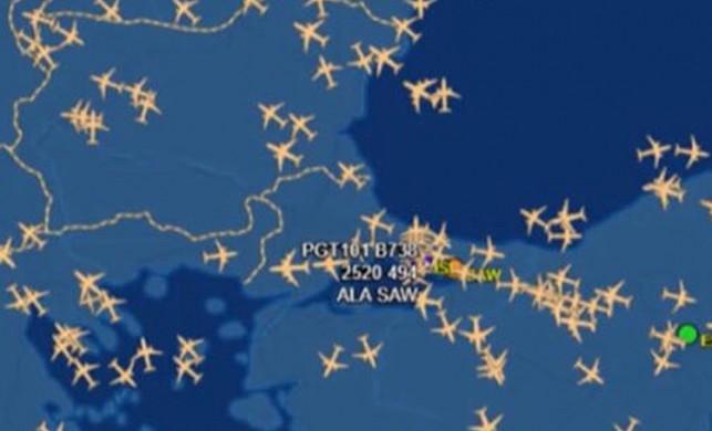 İstanbul hava sahasında uçak yoğunluğu!