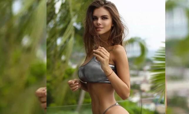 Viktoria Odintcova sosyal medyayı yine salladı