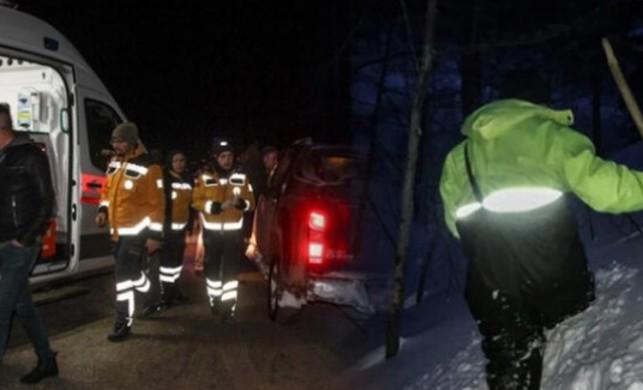 Kütahya'nın Domaniç ilçesinde Belediye Başkanı ve iki işçi donma tehlikesi atlattı!