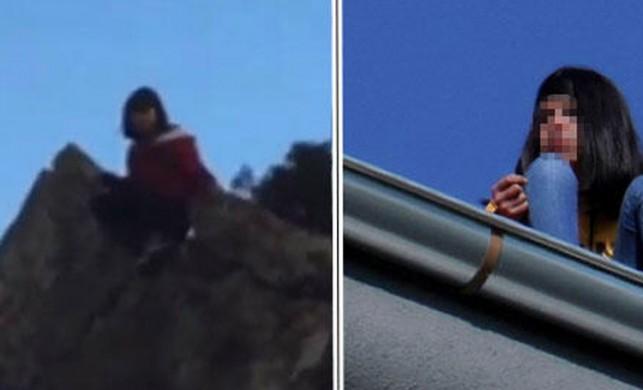 Bartın liseli kız, herkesin gözü önünde kayalıklardan denize atladı