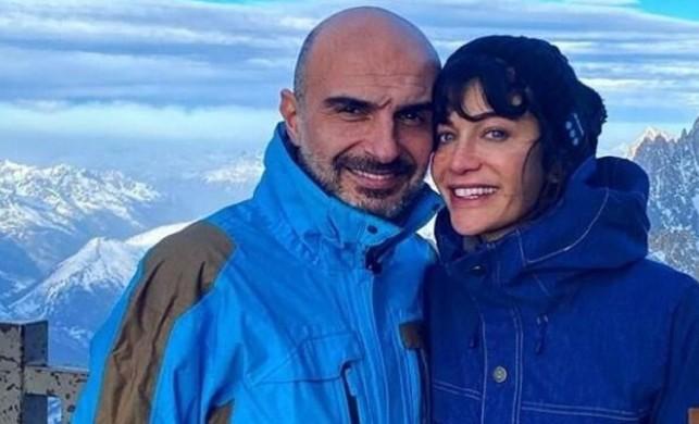 Ünlü oyuncu Berrak Tüzünataç ile Berk Suyabatmaz kış tatiline çıktı