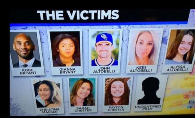 Kobe Bryant'ın hayatını kaybettiği helikopter kazasında ölen diğer isimler belli oldu