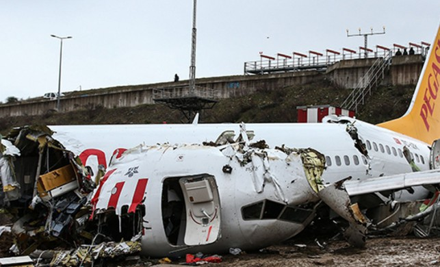 Sabiha Gökçen'de pistten çıkan uçağın yardımcı pilotu şüpheli sıfatıyla ifade verdi
