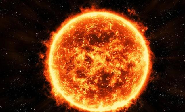 Güneş'e oldukça yakın bir yerde üçgen şeklinde bir UFO var