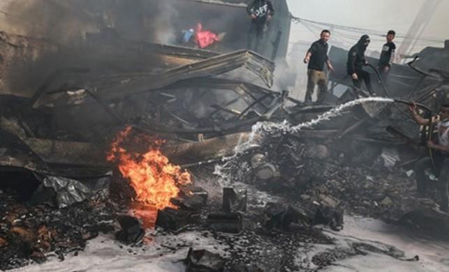Gazze kent merkezinde yangın: 9 ölü, 53 yaralı