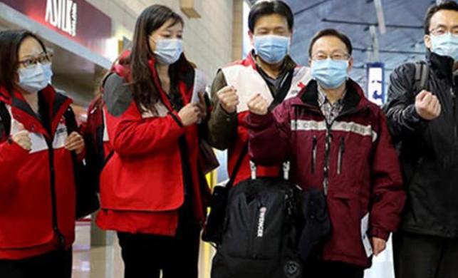 Çin'den gönüllü tıbbi uzmanlar, İtalya'ya gitmek üzere yola çıktı