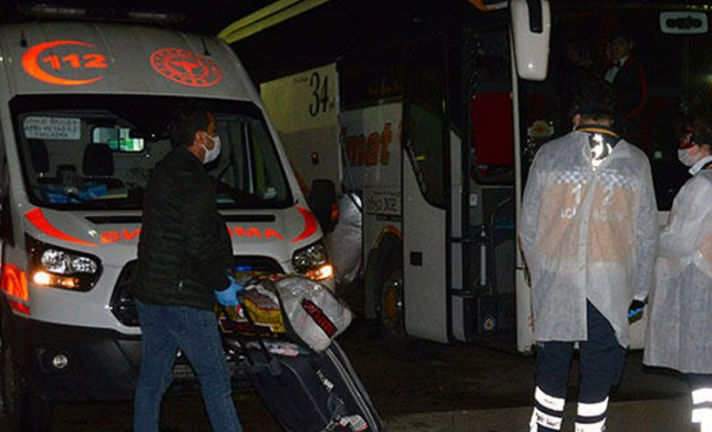 Adana'da yolcu otobüsünde panik! 3 kişi koronavirüs şüphesiyle karantinaya alındı...