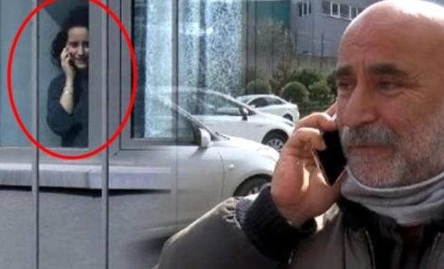 Karantina altındaki kızını karşı kaldırımdan arayan baba, yürek dağladı!