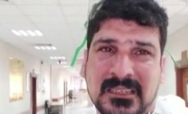 Iraklı doktor ağladı ve 'evde kalın' dedi