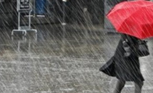Meteoroloji yurdun bazı kesimleri için sağanak ve yer yer gök gürültülü sağanak yağış uyarısında bulundu