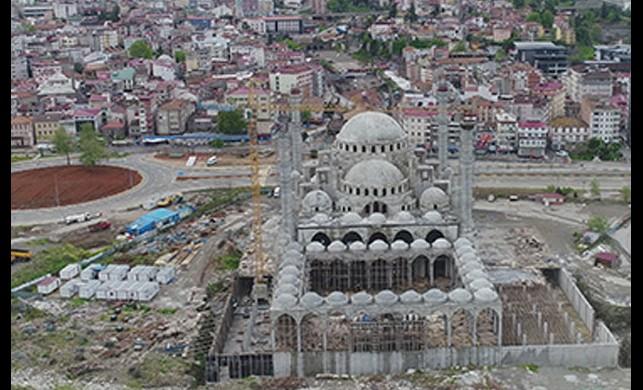 Doğu Karadeniz'in en büyük cami ve külliyesinin yapımı hız kazandı